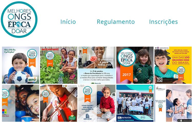 Organizações sociais já podem se inscrever no Prêmio Melhores ONGs 2018