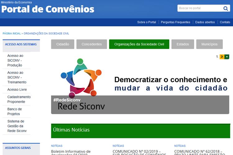 Siconv em detalhes em curso on-line em 12 de março